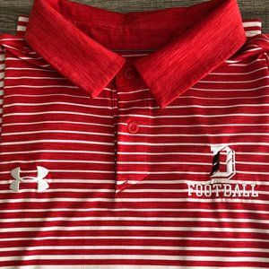 UNDER ARMOUR Davidson Wildcats Polo Shirt Like New